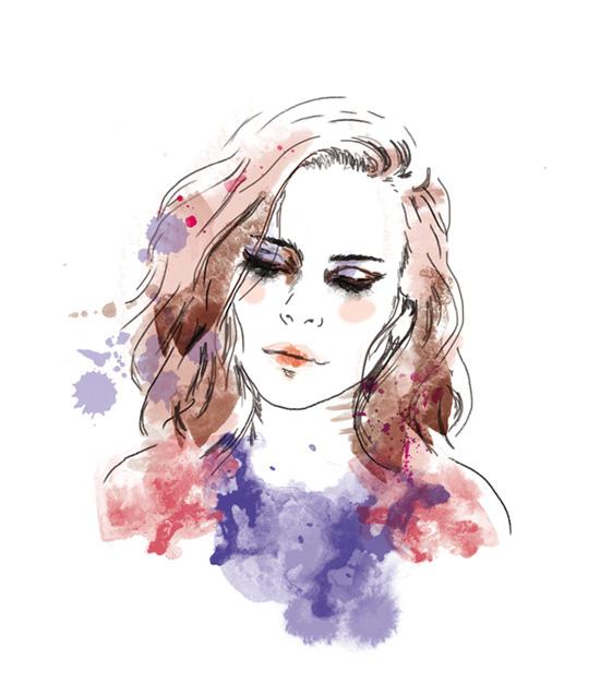 portrait de femme stylisé illustration visage de femme