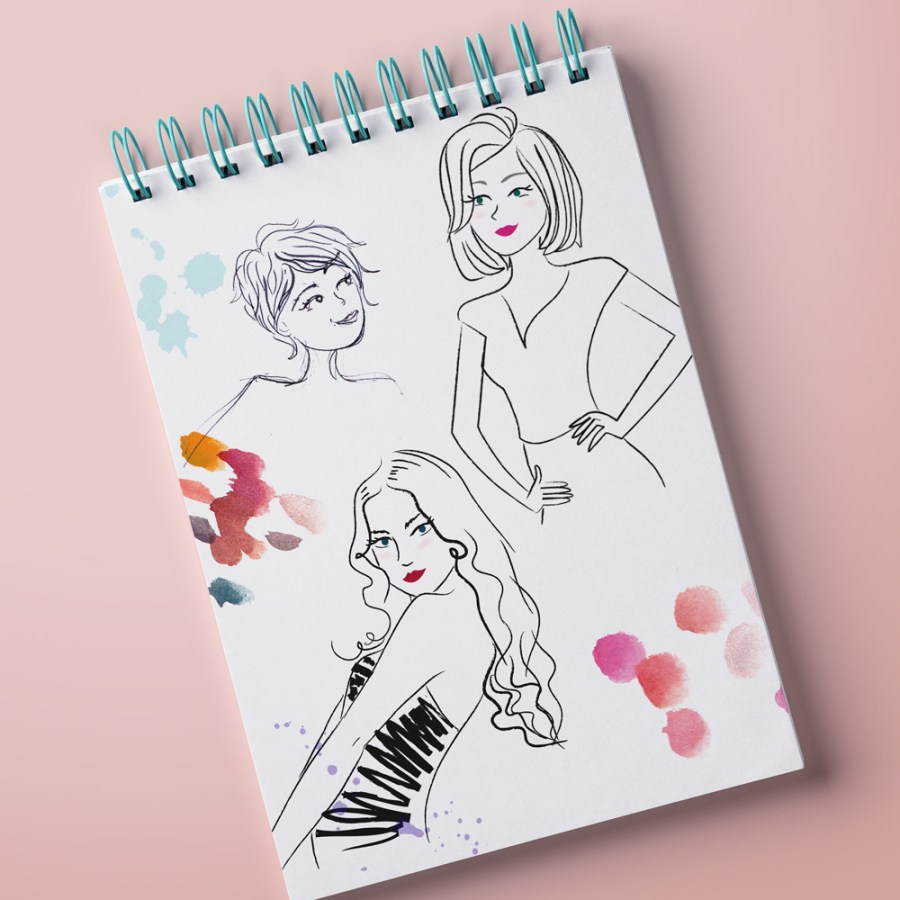 creation d'illustrations personnages féminins mode beauté