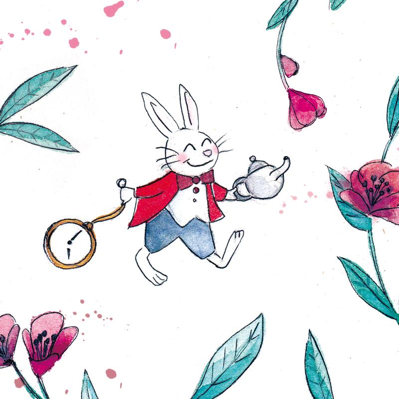 illustration lapin alice au pays des merveilles