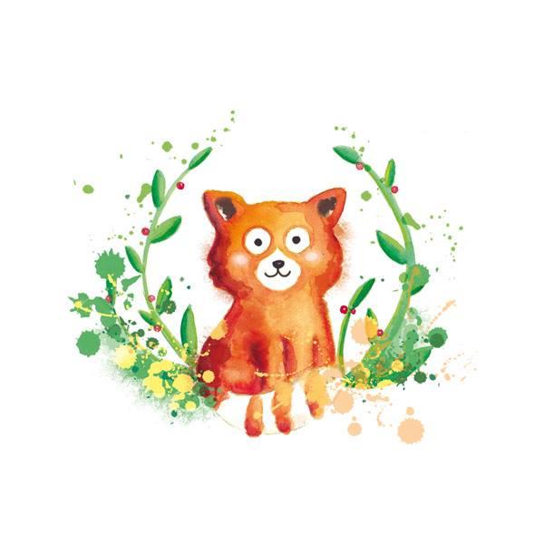 illustration jeunesse panda roux