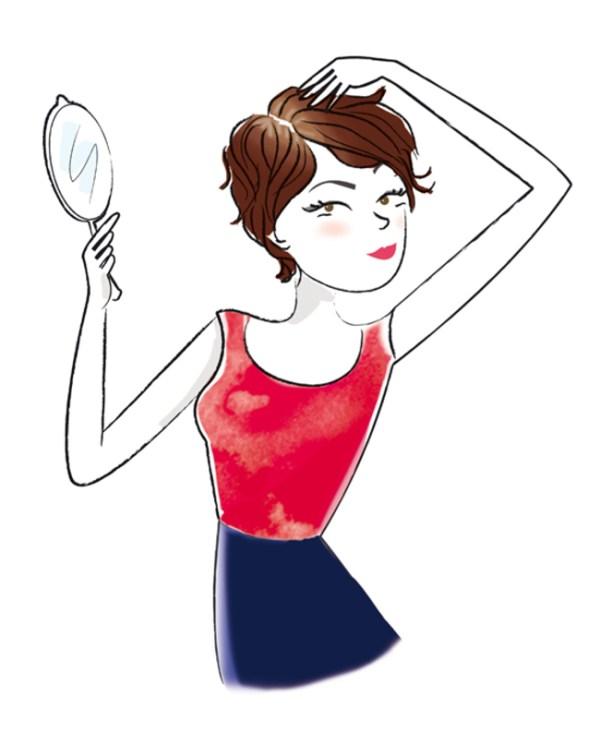 illustration jeune femme au miroir