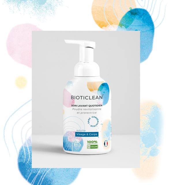 design de packaging etiquette pour un soin lavant