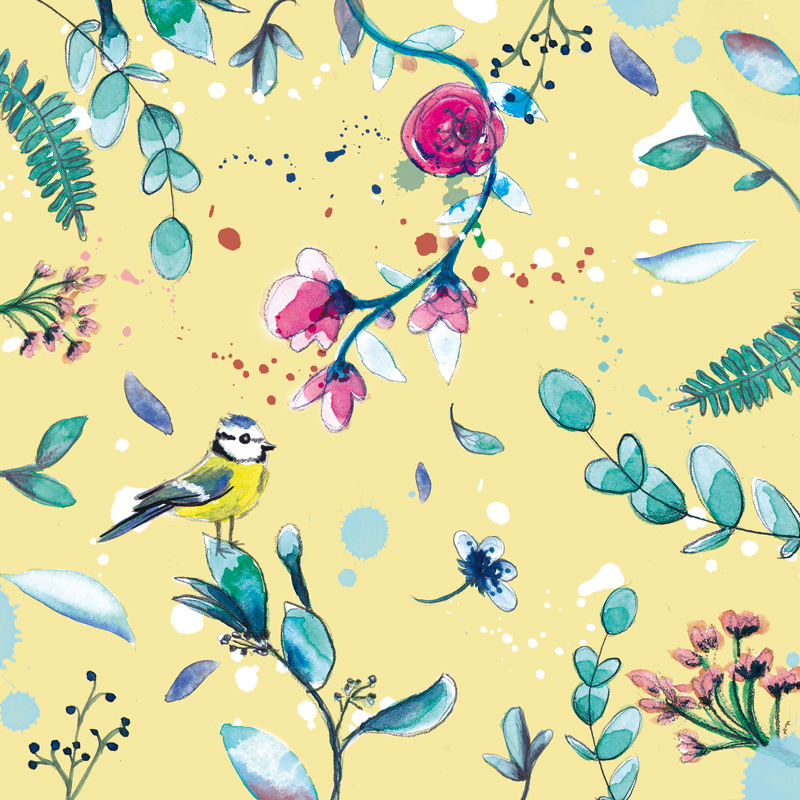 creation motif floral