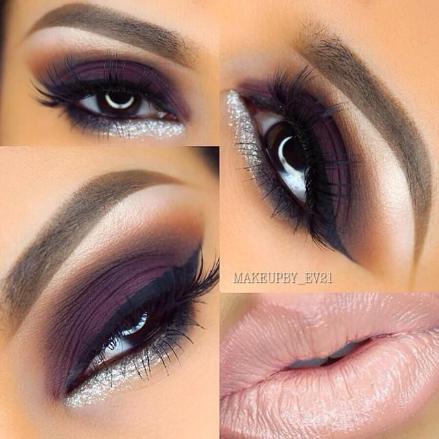 Motives Plum & Silver Look