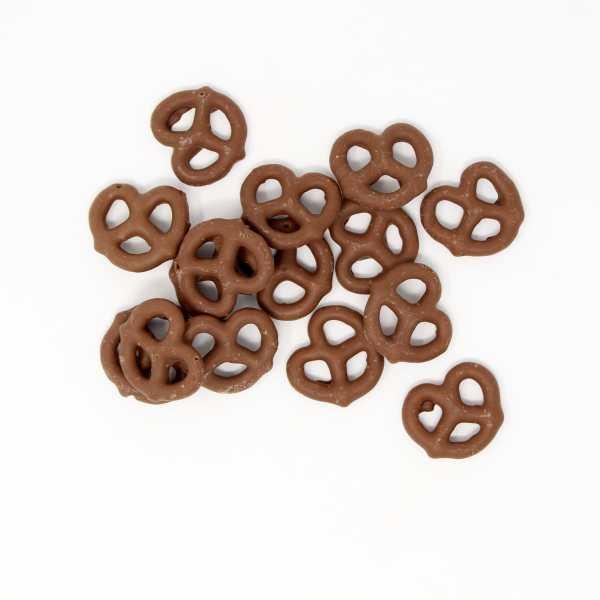 Milk-chocolate-pretzels-top-view-www Lorentanuts Com Pretzel