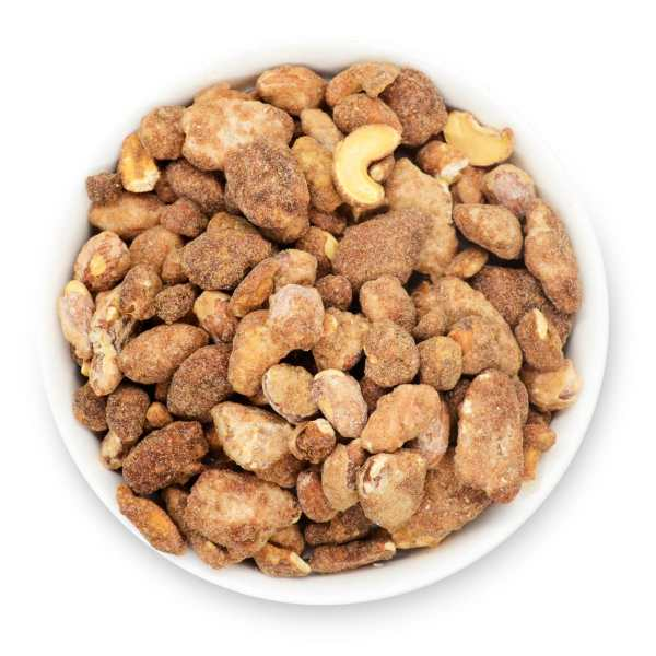 Gingerbread-mixed-nuts-bowl-top-view-www Lorentanuts Com Protein Punch