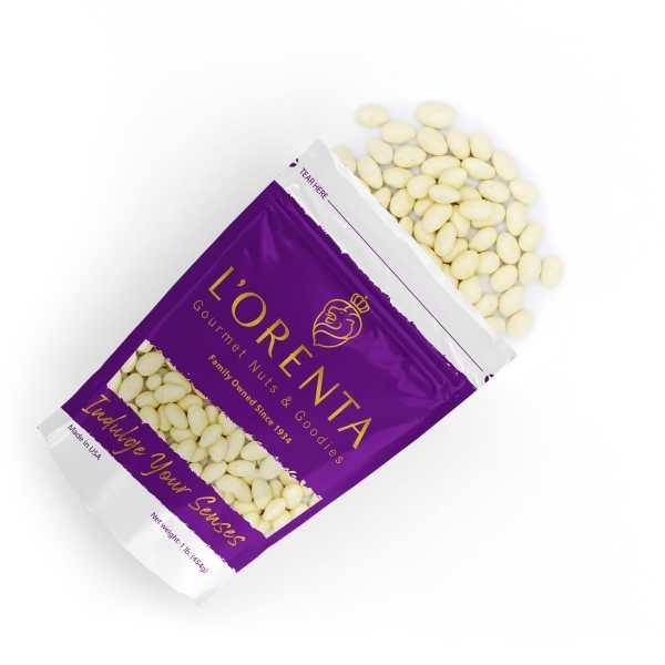White-chocolate-coconut-almonds-top-view-www Lorentanuts Com