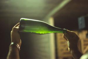 Champagne med gærrester