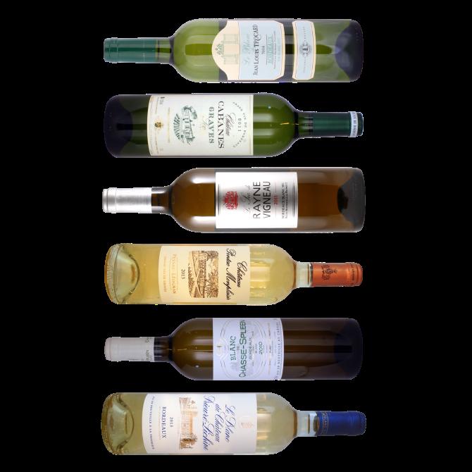 Bordeaux hvidvin - Smagekasse med 6 forskellige vine