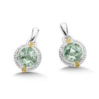 Shop by Designer > Lorenzo > Green Amethyst Earrings