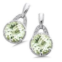 Shop by Designer > Colore SG > Green Amethyst & Diamond ...