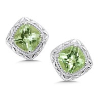 Shop by Designer > Colore SG > Green Amethyst Earrings in ...