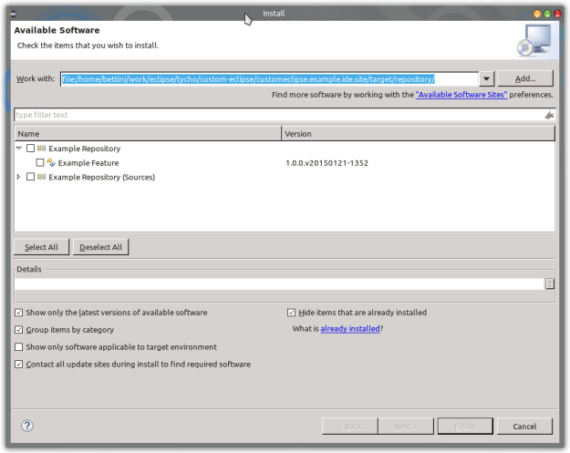 custom ide install new software 3