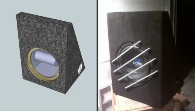 Custom design subwoofer box