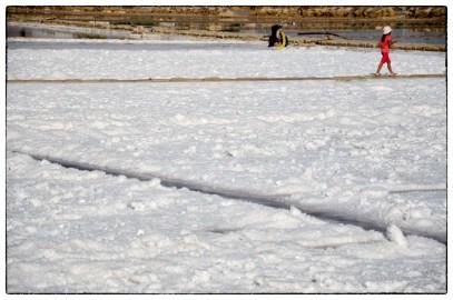 Saline di Trapani, neve