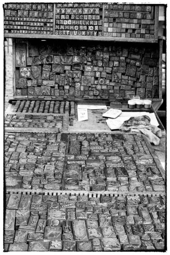 Mercato londinese, antichi timbri