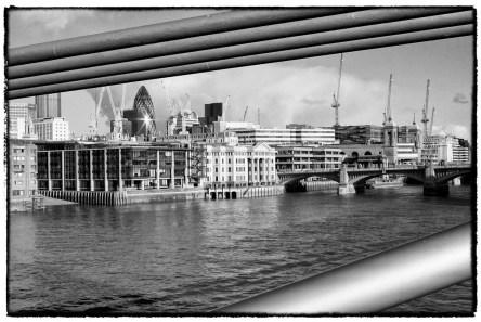 Vista di Londra in Bianco e Nero