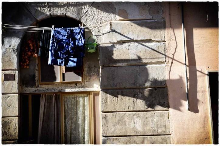 Porto di Trapani- panni stesi ad asciugare