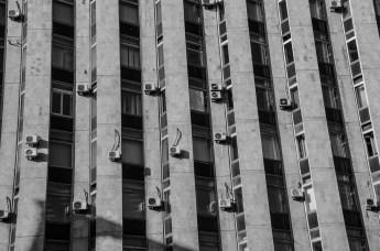 Facciata di edificio a Mosca