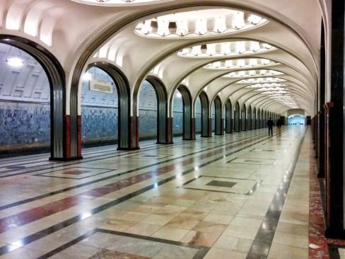Stazione di Mayakovskaya - Metro di Mosca