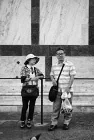 Turisti giapponesi al Battistero di Firenze