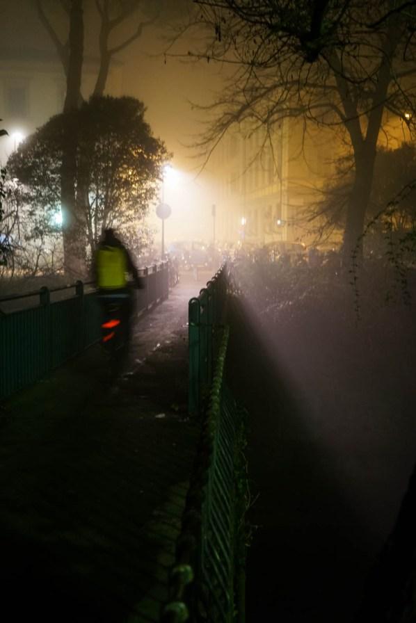 Quartiere le cure con Nebbia di Notte - Firenze-4