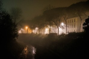 Quartiere le cure con Nebbia di Notte - Firenze-6