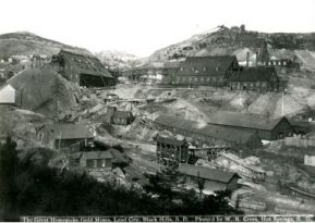 La mine d'or de Homestake en 1877