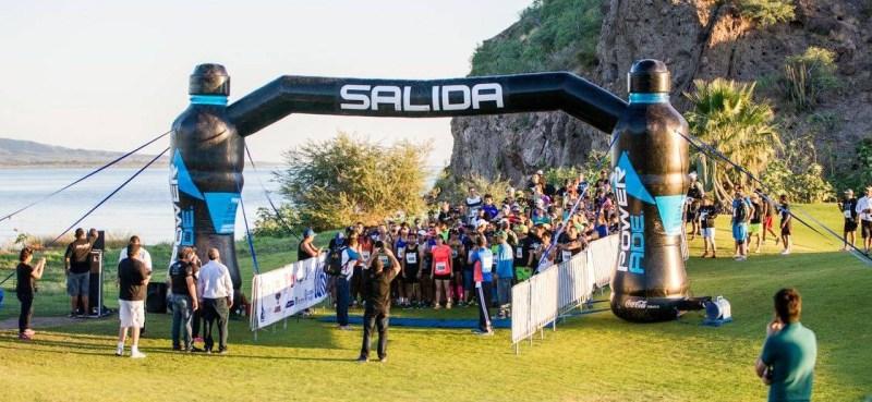 Start of the 21k marathon race at Nopolo