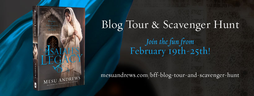Blog Tour and Scavenger Hunt Join the fun February 19-25th! mesu andrews.com/bff-blog-tour-and-scavenger-hunt