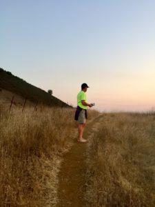 Climbing up El Toro barefoot