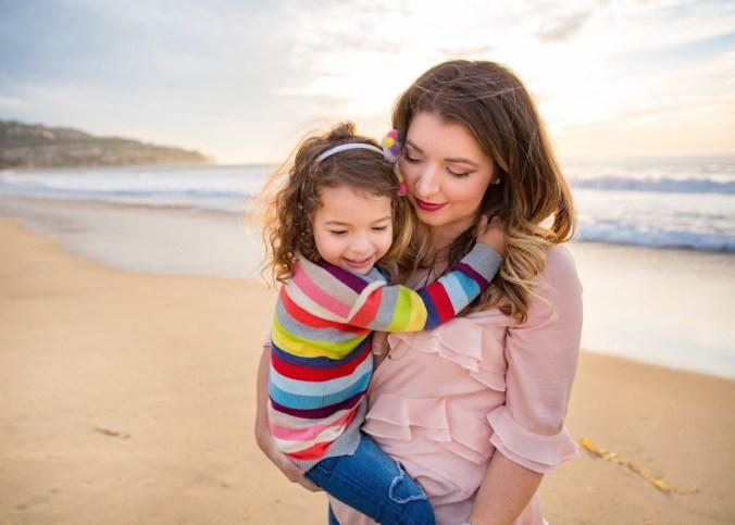 Beach days with Cora