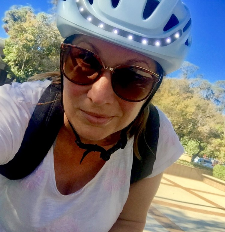 biking to the gym