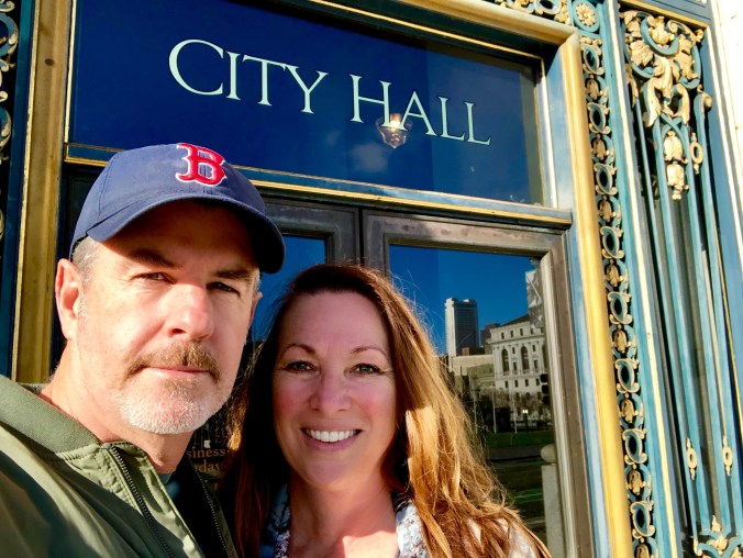 Always fun to visit City Hall in San Francisco, where we were married