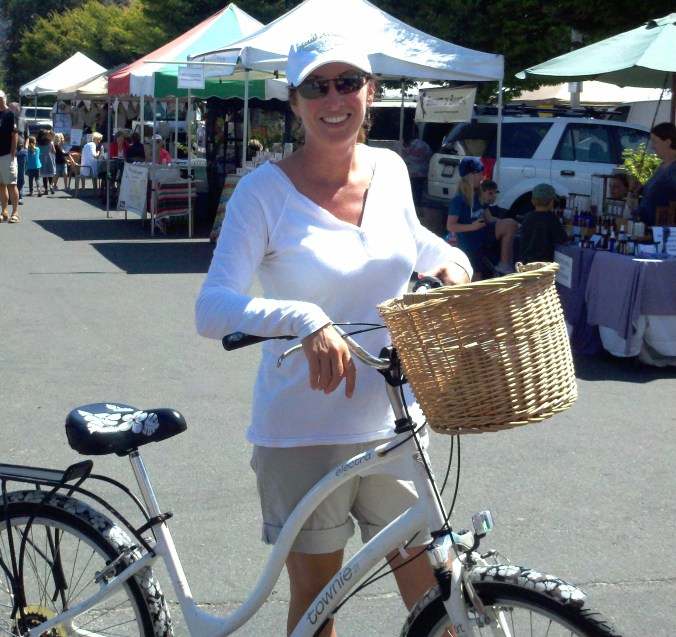 I loved riding my bike with my little dog in my basket
