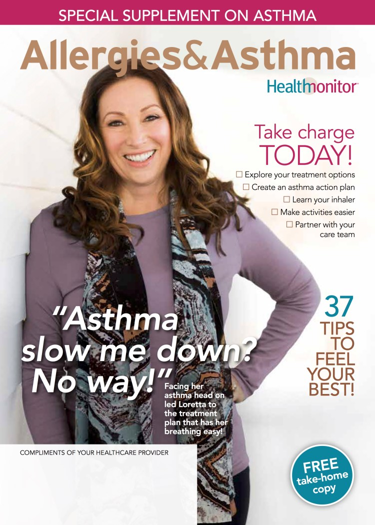 My moment of fame, on the cover of Health Monitor magazine