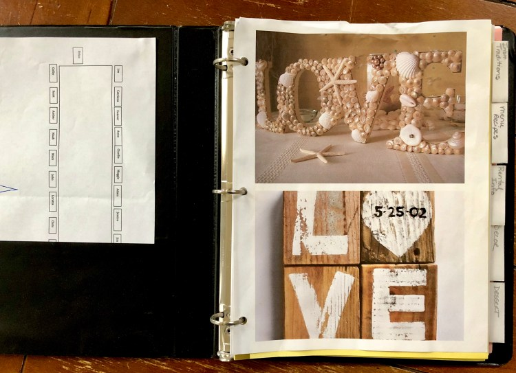 Planning for a wedding or other even requires a book to help you get organized.