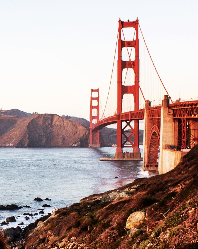 My favorite bridge of all is the Golden Gate in San Francisco
