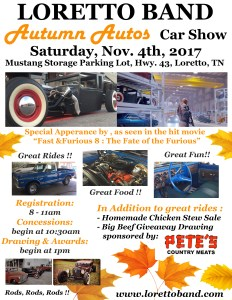 St Annual Autumn Autos Car Show Loretto Band - Car show giveaways