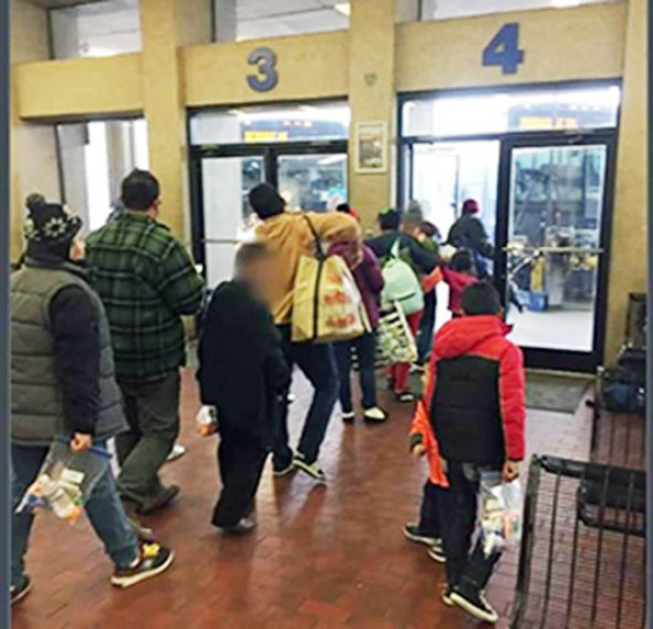 Passengers prepare to depart from the Louisville Greyhound Bus Station. (Photo courtesy of the Rev. Jim Flynn)