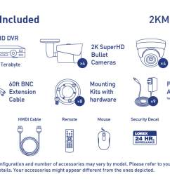 2k super hd security camera system with 8 metal outdoor cameras 150ft night vision  [ 1200 x 800 Pixel ]