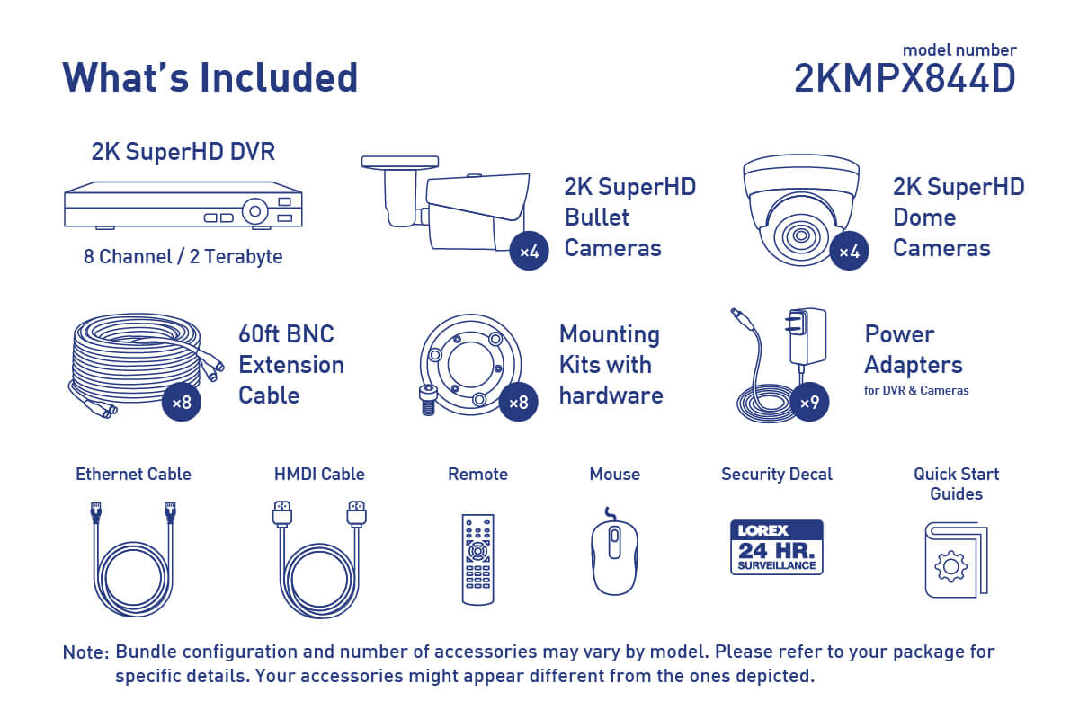 hight resolution of 2k super hd security camera system with 8 metal outdoor cameras 150ft night vision