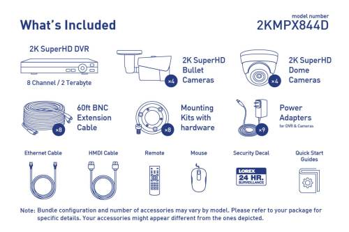small resolution of 2k super hd security camera system with 8 metal outdoor cameras 150ft night vision