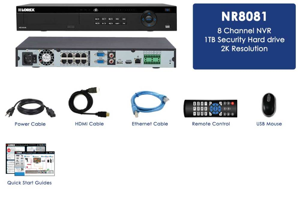 medium resolution of 2k security system nvr 8 channel