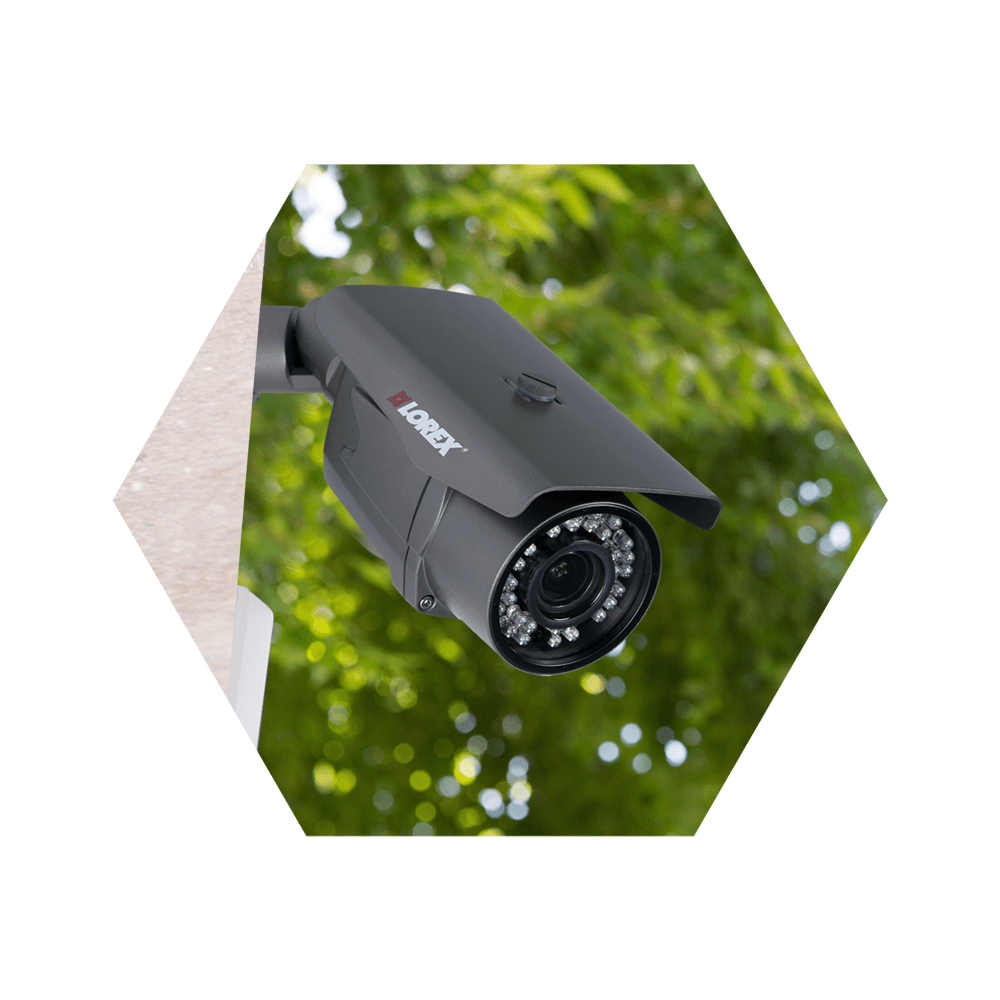 hight resolution of avoid trees or foliage to maximize home security footage
