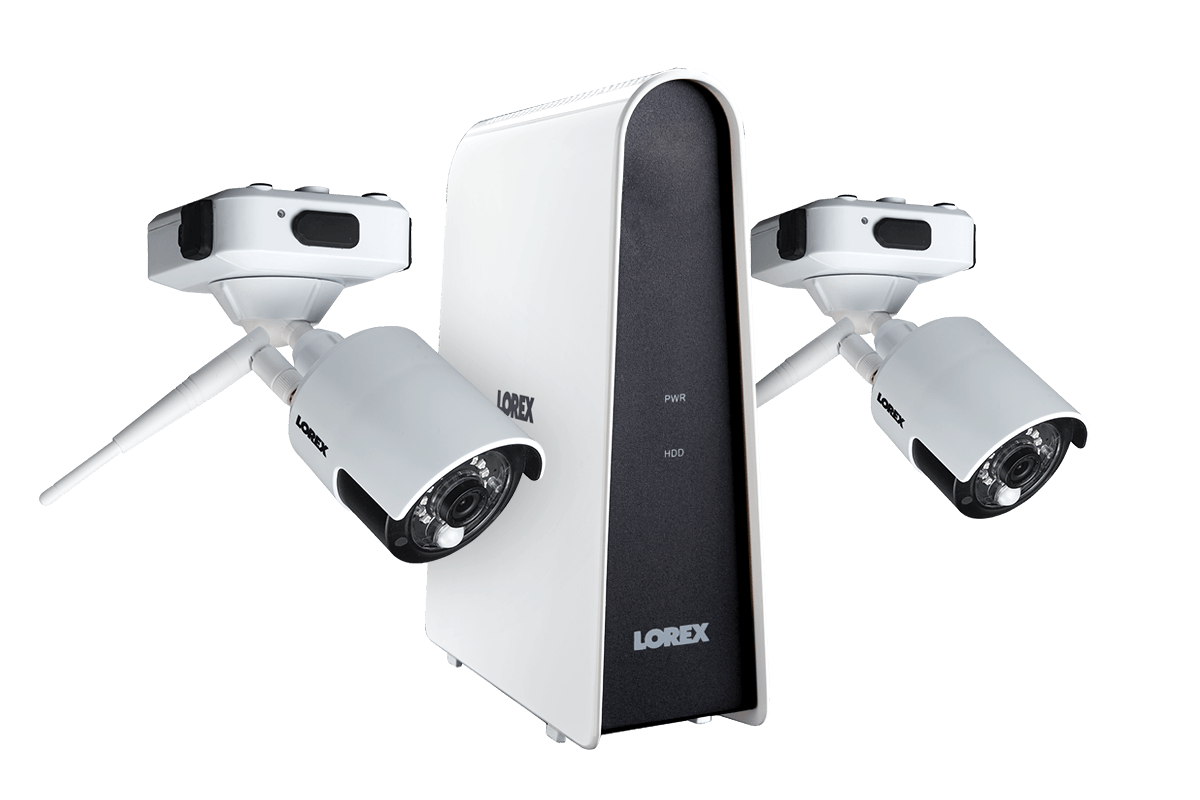 hight resolution of wire free security camera system with 2 cameras