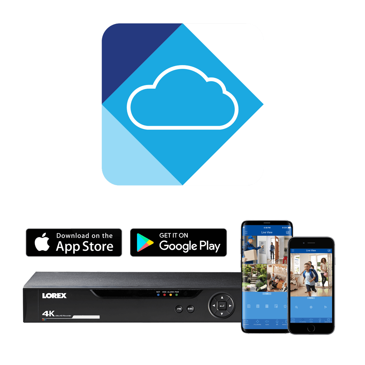 hight resolution of remote viewing from your mobile with lorex cloud