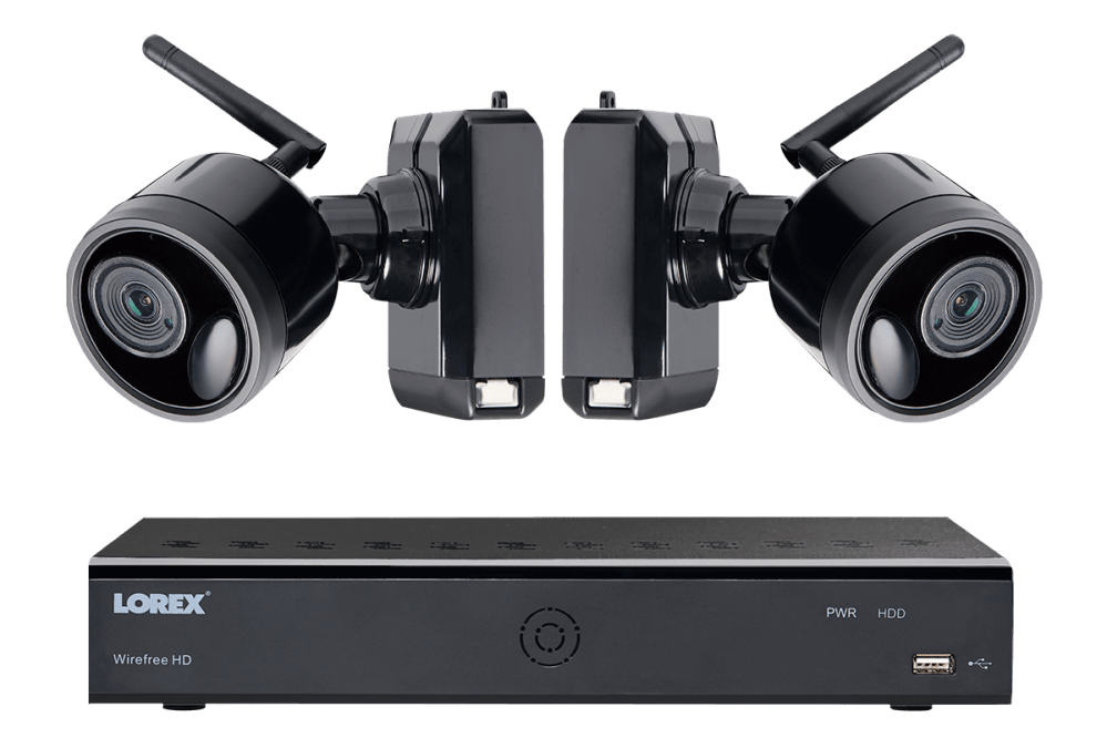 medium resolution of 1080p wireless camera system with 6 battery operated wire free cameras 65ft night vision mic and speaker for two way audio no monthly fees lorex
