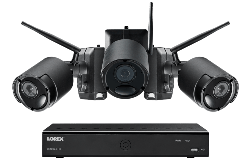 small resolution of 1080p wire free camera system 3 battery powered black outdoor metal cameras ultra