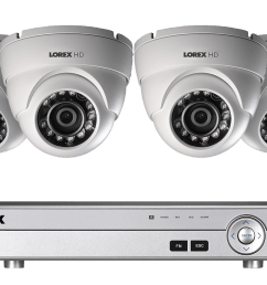 1080p hd home security system with 4 outdoor dome cameras [ 1200 x 800 Pixel ]